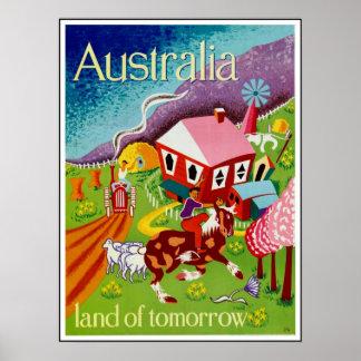 Arte histórica Austrália do viagem dos posteres vi Pôster