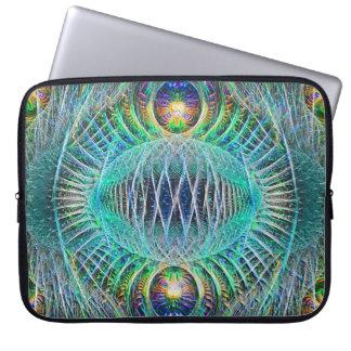 Arte impressionante do Fractal de turquesa Capas De Computadores Notebooks
