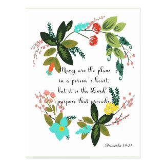 Arte inspirada cristã - 19:21 dos provérbio cartão postal
