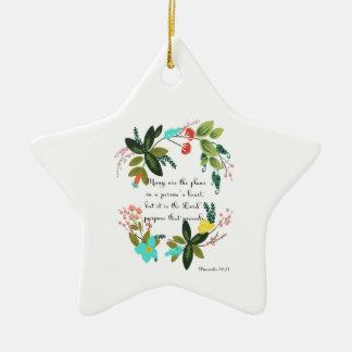 Arte inspirada cristã - 19:21 dos provérbio ornamento de cerâmica estrela
