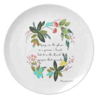 Arte inspirada cristã - 19:21 dos provérbio prato de festa