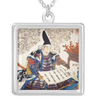Arte japonesa tradicional oriental legal do colar banhado a prata