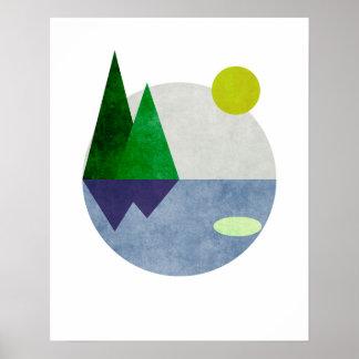 Arte minimalista da paisagem póster