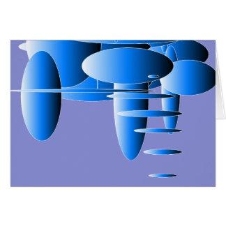 Arte moderna azul das elipses cartão