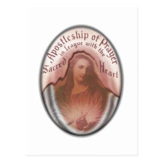 Arte moderna católica cristã de Jesus do coração Cartão Postal