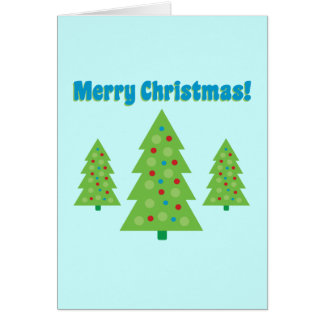 Arte moderna da árvore de Natal Cartões
