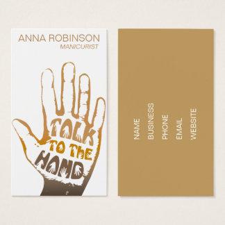 Arte moderna do prego do manicuro cartão de visitas