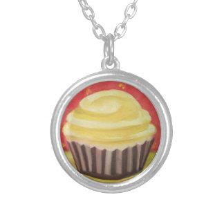 Arte moderna tradicional da colar do cupcake do ch