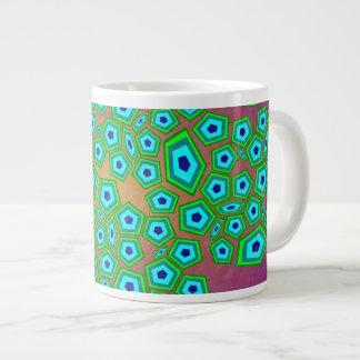 Arte natural celular do teste padrão jumbo mug