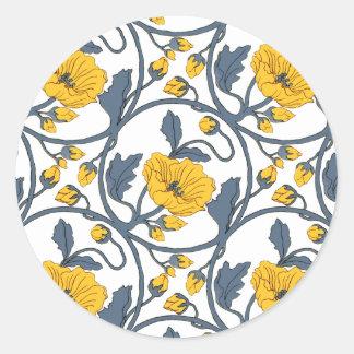 Arte Nouveau do design do azulejo do vintage da Adesivo