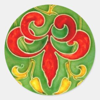 Arte Nouveau dos artesanatos das artes do azulejo Adesivo