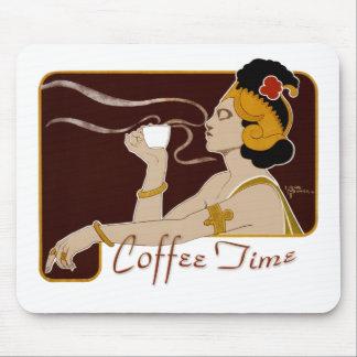Arte Nouveau Mousepad do tempo CC0224 do café