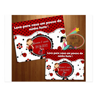 Arte para Marmitinha - Joaninha Cartão Postal