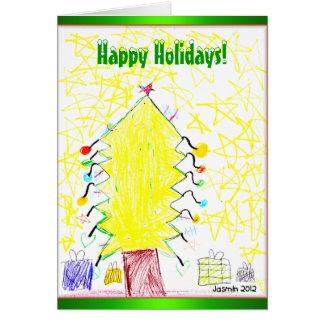 Arte pelo cartão de cartões de natal 2012 do Natal
