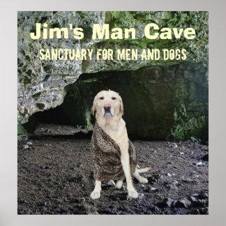Arte personalizada da caverna do homem posteres