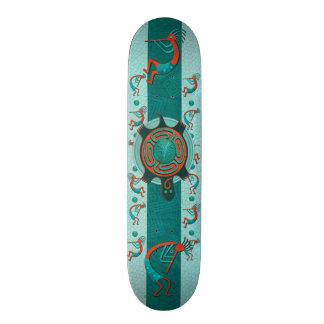 Arte popular do nativo de Anasazi dos visitantes Shape De Skate 20,6cm
