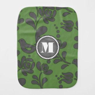 Arte popular européia verde elegante fraldas de ombro