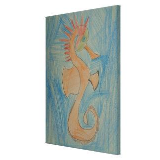 Arte por crianças, hipocampo, cavalo marinho,