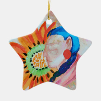 Arte por Della Boynton Ornamento De Cerâmica Estrela