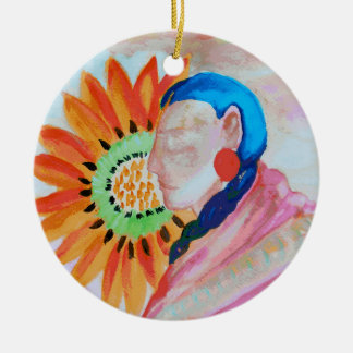 Arte por Della Boynton Ornamento De Cerâmica Redondo