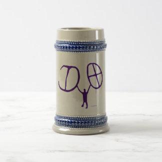 Arte pré-histórica da rocha das ideias legal do caneca de cerveja