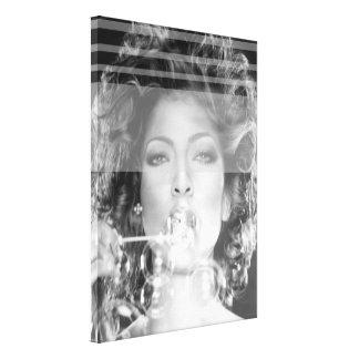 Arte preta & branca do fabricante de bolha - das impressão em tela