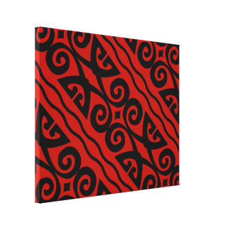 Arte preta e vermelha moderna elegante da parede impressão em tela