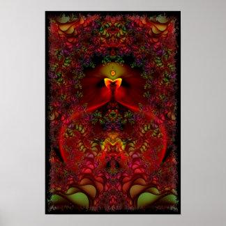 Arte psicadélico abstrata do Fractal do país das m Poster