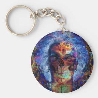 Arte psychodelic do crânio chaveiro