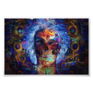 Arte psychodelic do crânio impressão de foto
