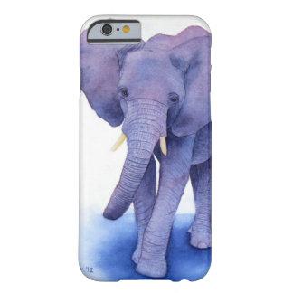 arte roxa da aguarela do elefante em artigos capa barely there para iPhone 6