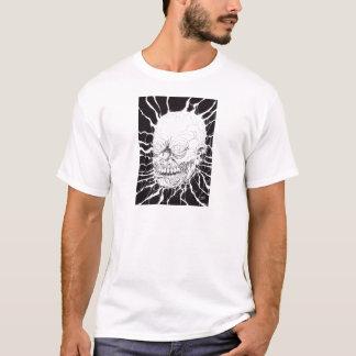 Arte separada da cabeça do horror do zombi camiseta