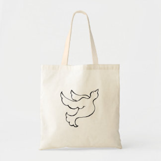 Arte simbólica esperançosa do original da pomba do bolsa de lona