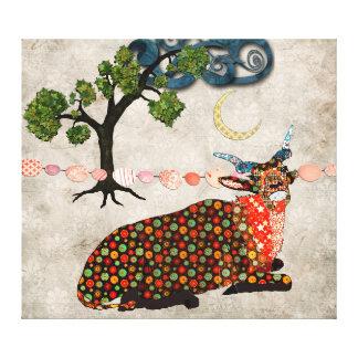 Arte sonhadora das canvas da noite do Addax artíst Impressão De Canvas Esticadas