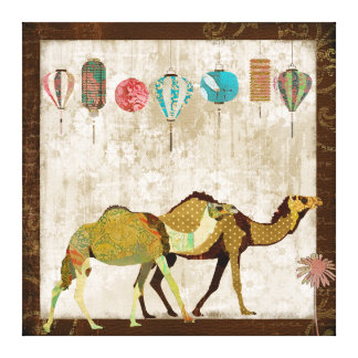 Arte sonhadora das canvas da viagem dos camelos