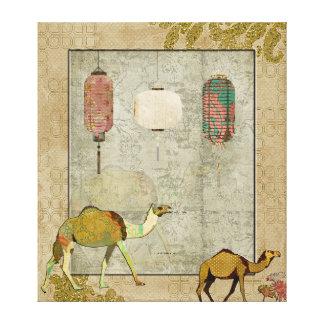 Arte sonhadora das canvas dos camelos impressão de canvas envolvida