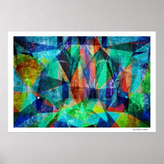 Arte suja colorida geométrica abstrata moderna pôster