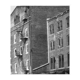 Arte urbana preto e branco impressão de canvas esticada