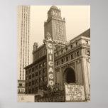 Arte velha da foto de Chicago - fotografia do vint Posters