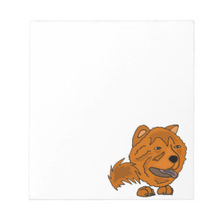 Arte vermelha engraçada do cão da comida de comida caderno de anotação