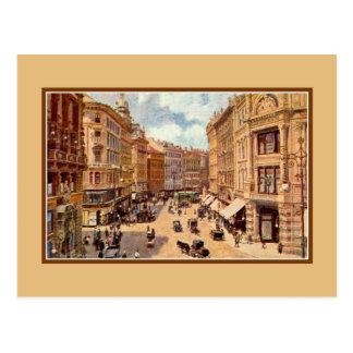 Arte Viena Graben do Victorian do vintage Cartão Postal
