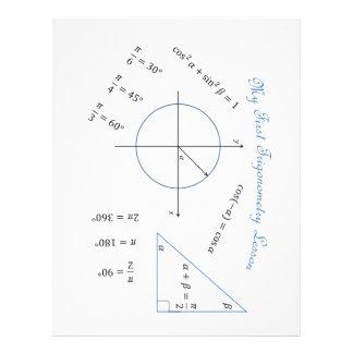 Artigo do trigonometria do caloiro papel timbrado