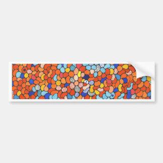 Artigos azuis, vermelhos e alaranjados do ponto! adesivo para carro