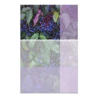 Artigos de papelaria da uva de Oregon