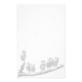 Artigos de papelaria das corujas de Screech do beb