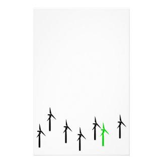 artigos de papelaria das energias eólicas (preto