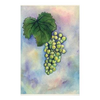 Artigos de papelaria das uvas para vinho de