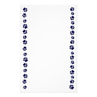 Artigos de papelaria de Pawprint dos azuis