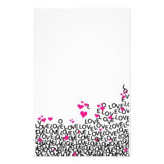 Artigos de papelaria do amor do dia dos namorados