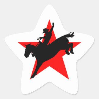 Artigos de papelaria do cavaleiro do cavalo do adesito estrela